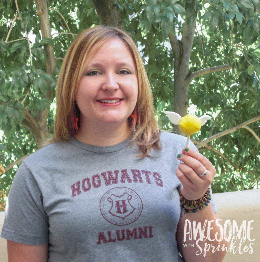 Harry Potter Butterbeer Snitch Cake Pops | Awesome with Sprinkles