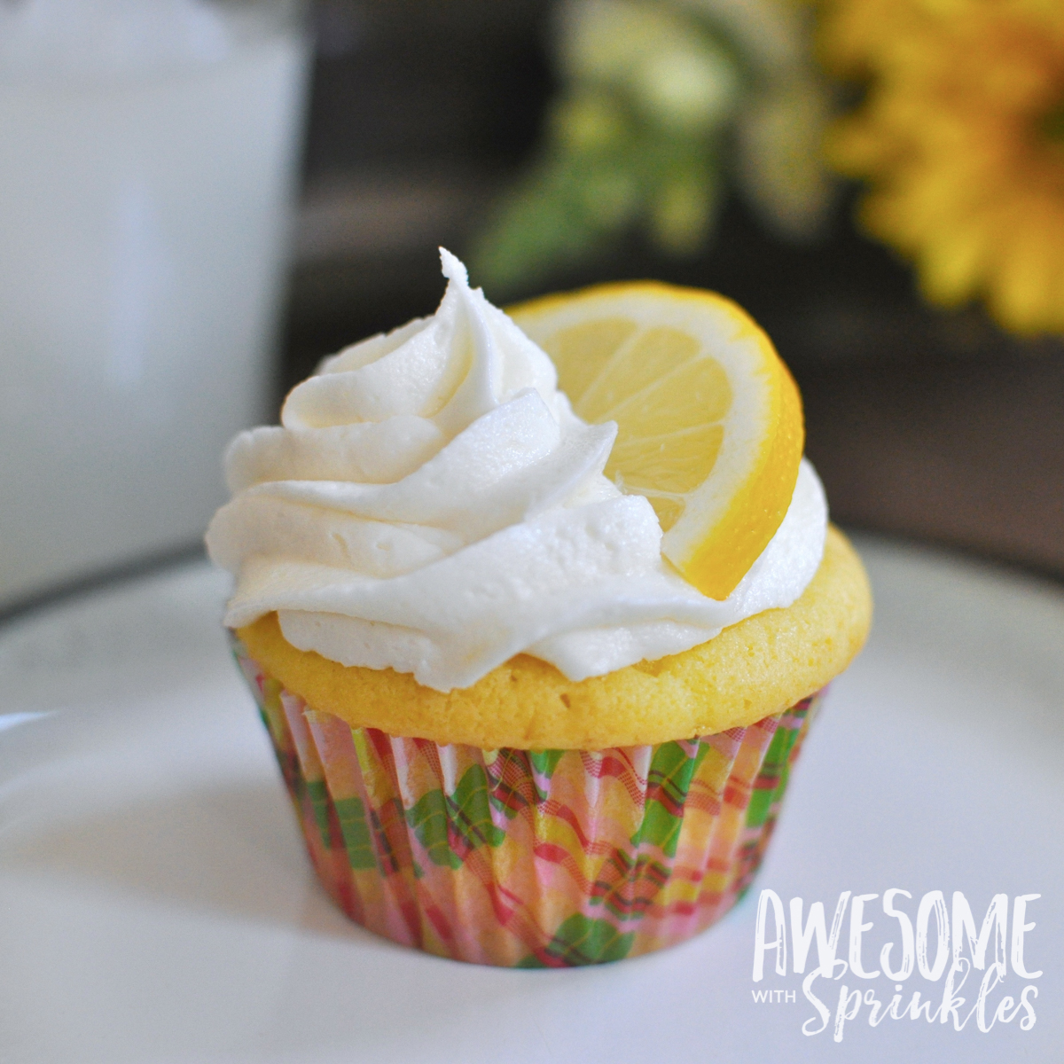 Lovely Lemon Cupcakes with fresh squeezed Lemon Buttercream   Awesome with Sprinkles