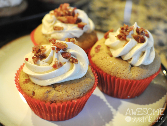 Maple Bacon Cupcakes | Awesome with Sprinkles