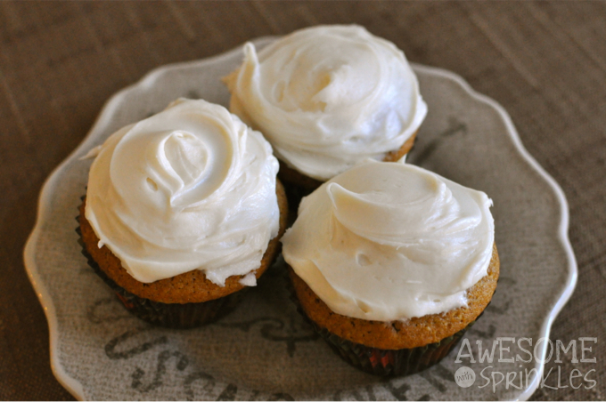 Pumpkin Spice Cupcakes | Awesome with Sprinkles