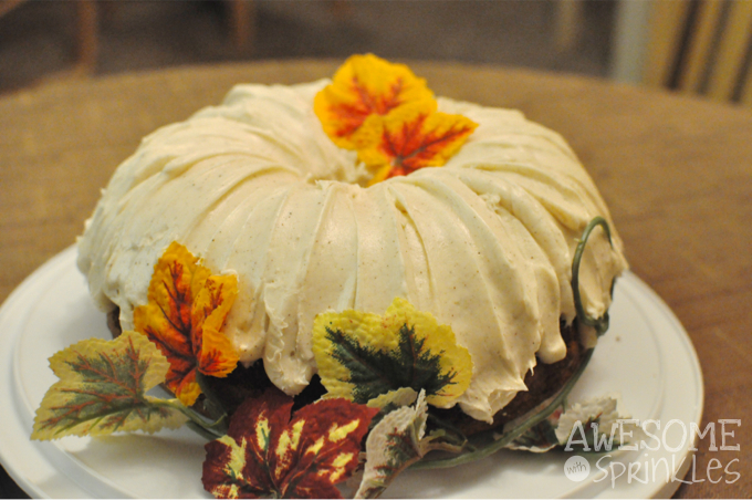 Pumpkin Spice Bundt Cake | Awesome with Sprinkles