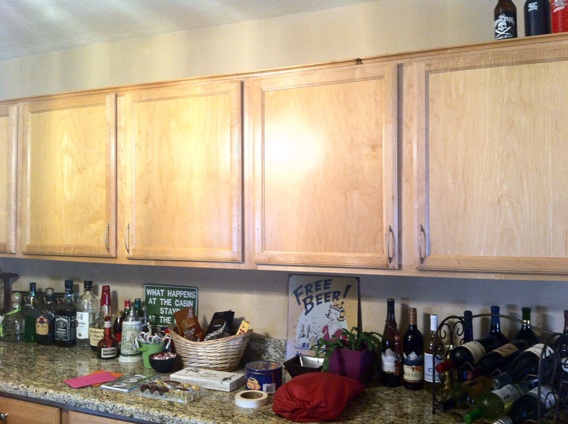 Chalkboard Painted Cabinets - Before | Awesome with Sprinkles