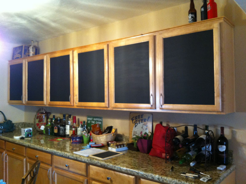 Chalkboard Painted Cabinets - After | Awesome with Sprinkles