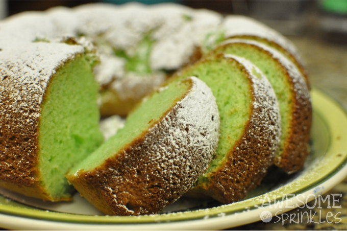 Pistachio Bundt Cake | Awesome with Sprinkles