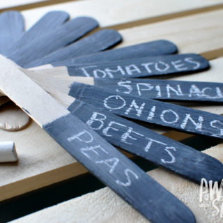 DIY Chalkboard Painted Garden Labels