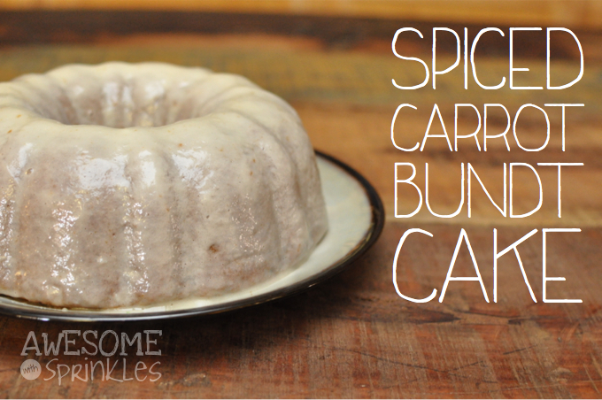 Spiced Carrot Bundt Cake | Awesome with Sprinkles