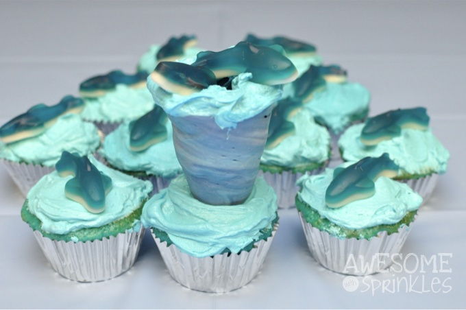 Sharknado Cupcakes | Awesome with Sprinkles