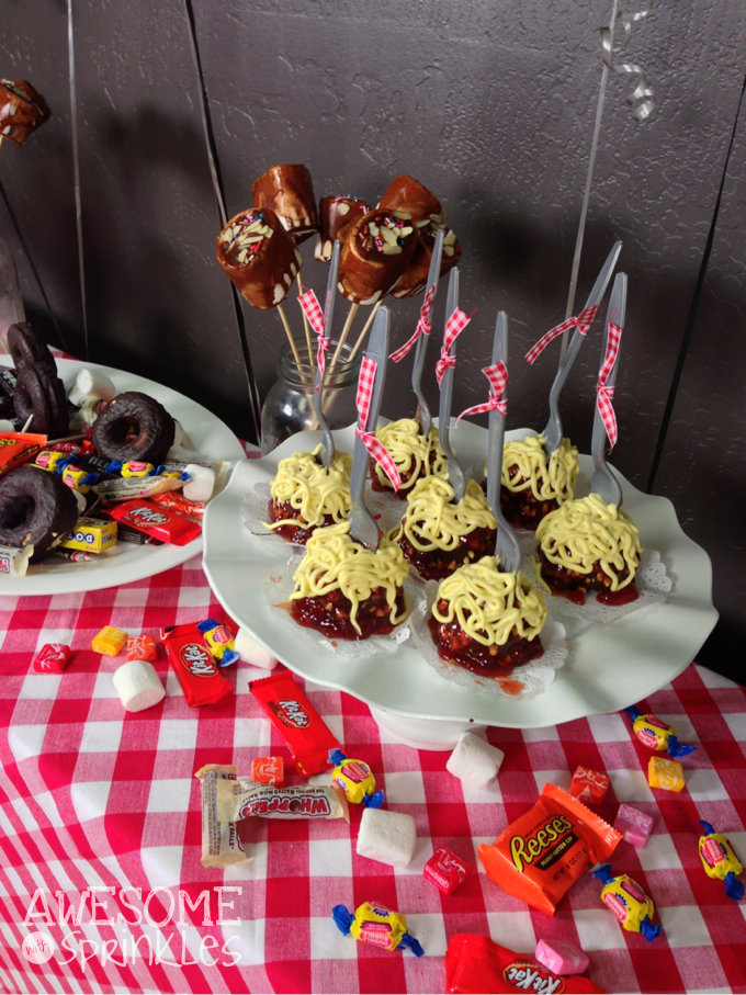 Cloudy with a Chance of Meatballs Cake Pops | Awesome with Sprinkles