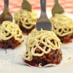 Spaghetti & Meatballs Cake Pops