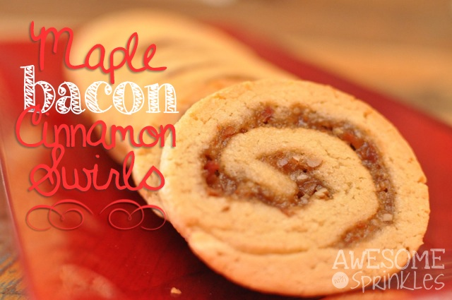Maple Bacon Cinnamon Swirls | AwesomewithSprinkles.com