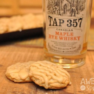 Maple Whisky Cookies with Brown Sugar Glaze