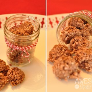 Chocolate Coconut No-bake Cookies