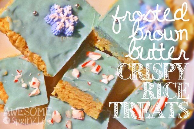 Brown Butter Rice Krispy Treats | AwesomeWithSprinkles.com