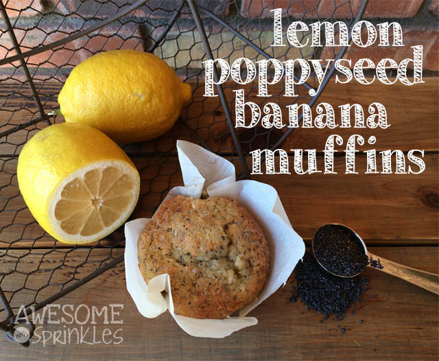 Lemon Poppyseed Muffins | Awesome with Sprinkles