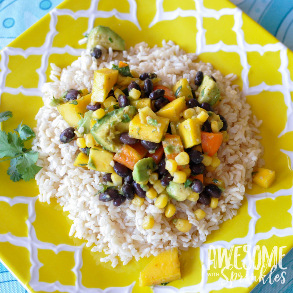 Mango, Black Bean & Avocado Salad with Cilantro Lime ...