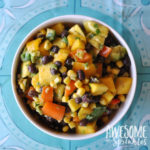 Mango Avocado Black Bean Salad with Cilantro Lime Dressing | Awesome with Sprinkles