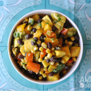 Mango, Black bean and Avocado Salad with Cilantro Lime Dressing | Awesome with Sprinkles
