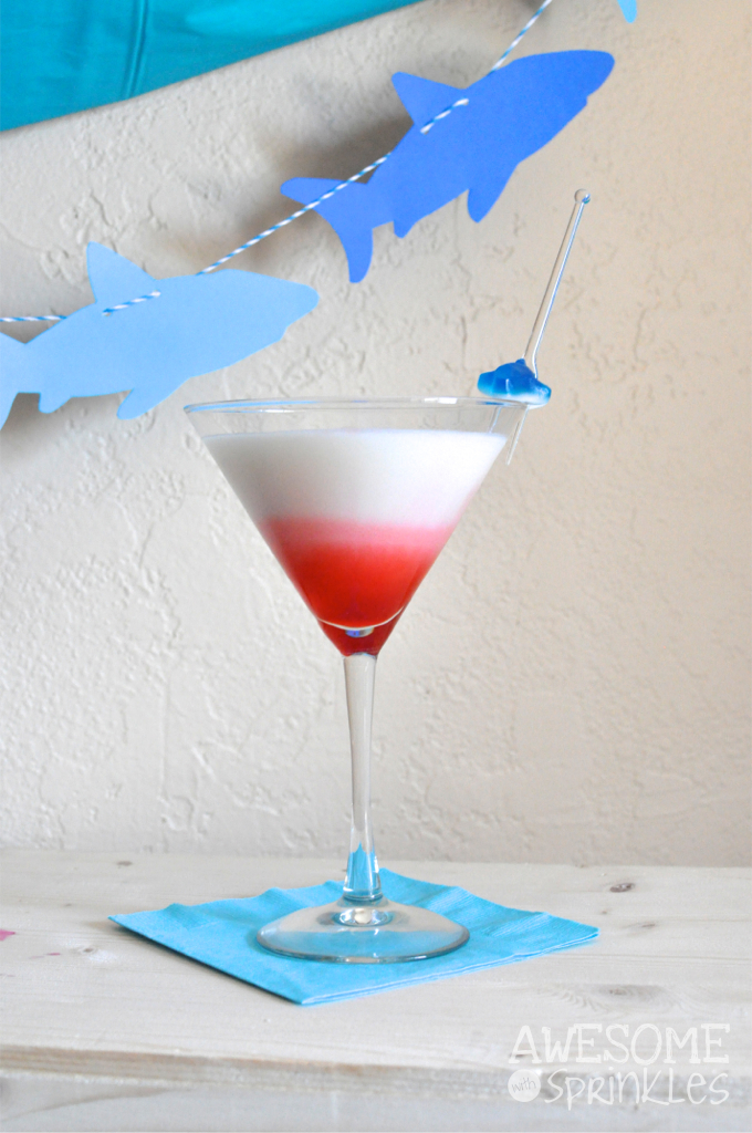 Shark Week: Great White-tini Cocktail | Awesome with Sprinkles