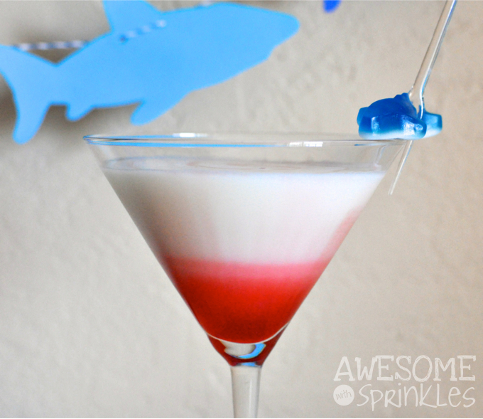 Shark Week: Great White-tini Cocktail   Awesome with Sprinkles