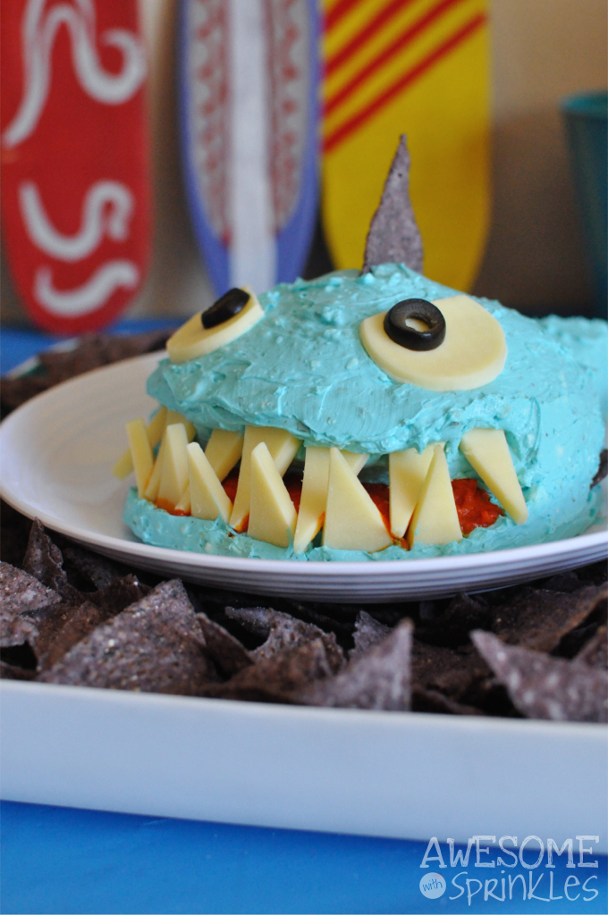 Jaws Jr: Shark Shaped Cheese Ball | Awesome with Sprinkles