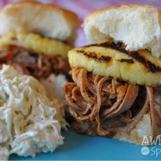 Spicy Pulled Pork Sliders in the Crockpot | Awesome with Sprinkles