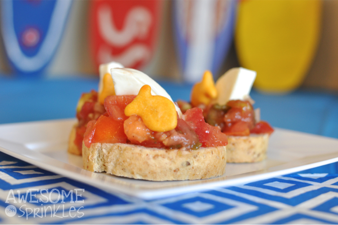 Shark Fin Bruschetta | Awesome with Sprinkles