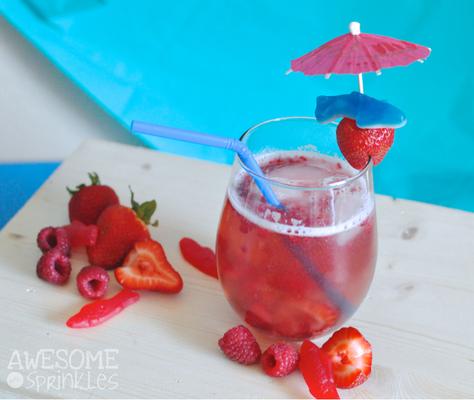 """Shark Week Inspired """"Chum"""" Wine Spritzer 