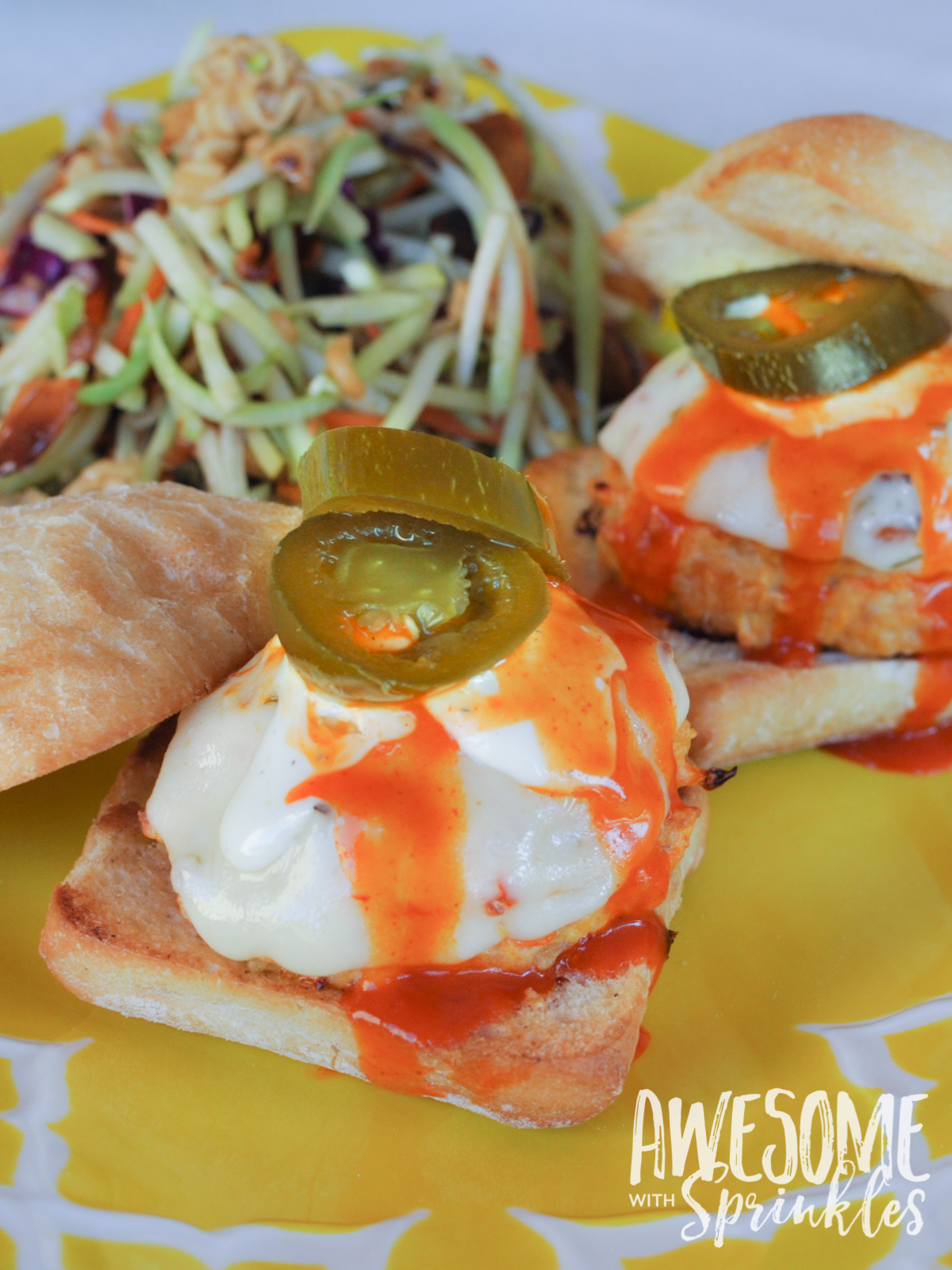 Spicy Buffalo Chicken Sliders by Awesome with Sprinkles