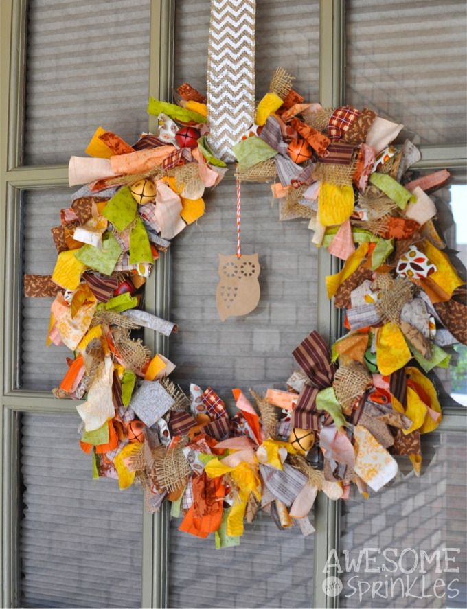 Easy No Sew Fabric Tie Wreath Awesome With Sprinkles