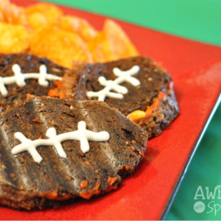 Mini Football Panini Sandwiches