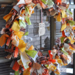 Easy No-Sew Fabric Tie Wreath