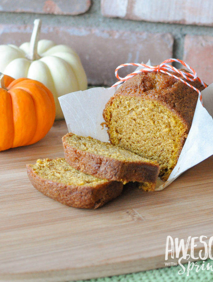 The Best Ever (Starbucks Copycat) Pumpkin Spice Loaf   Awesome with Sprinkles