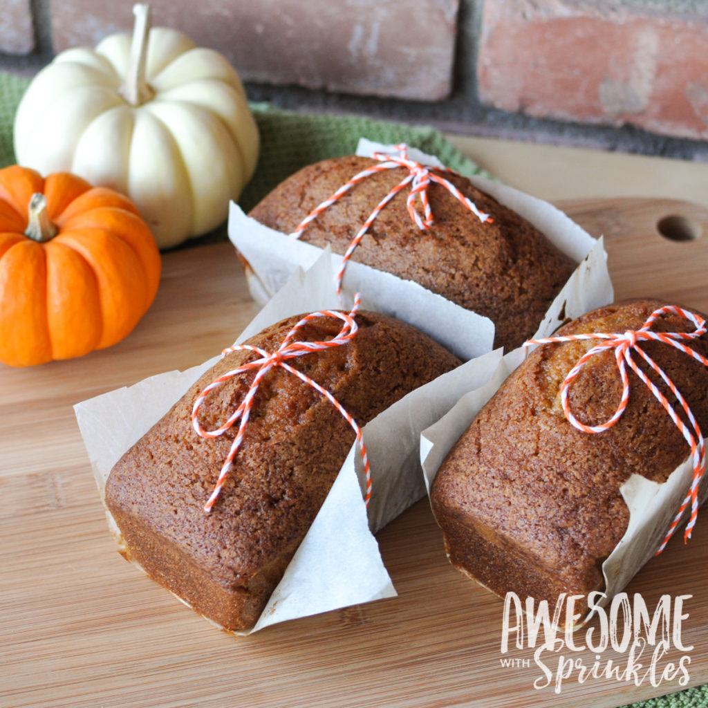 The Best Ever (Starbucks Copycat) Pumpkin Spice Loaf | Awesome with Sprinkles