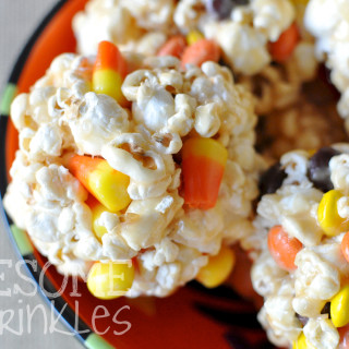 Salted Caramel Popcorn Balls | Awesome with Sprinkles