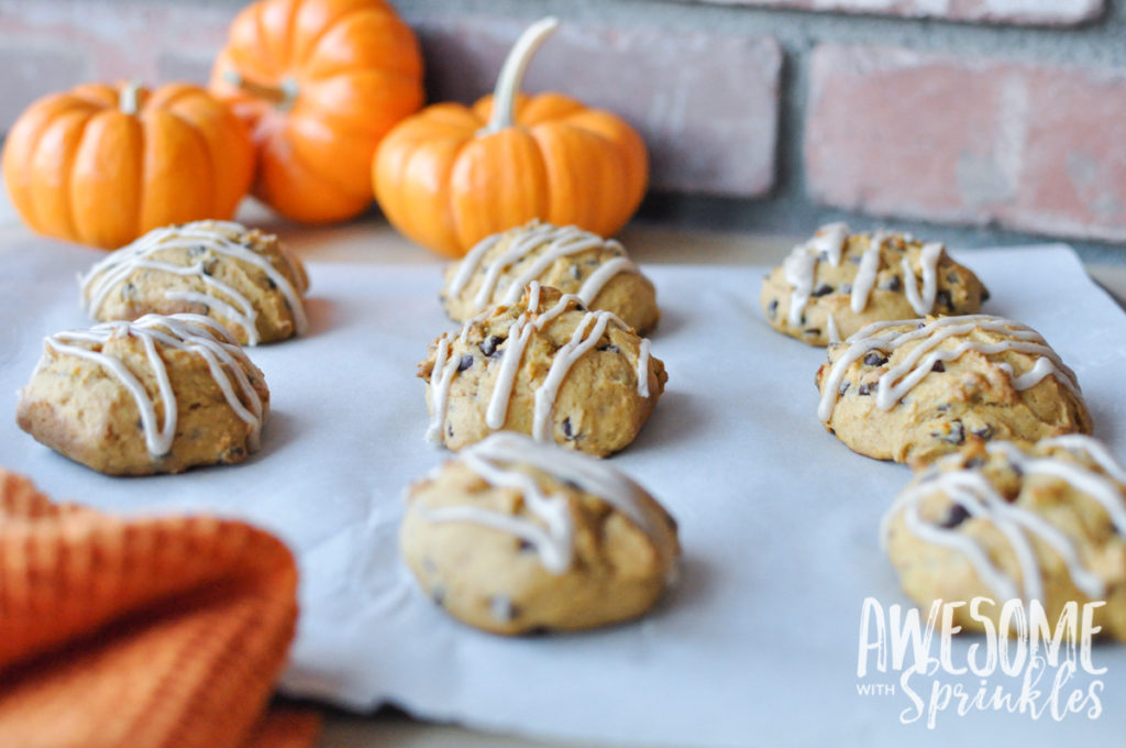 Pumpkin Chocolate Chip Cookies   Awesome with Sprinkles
