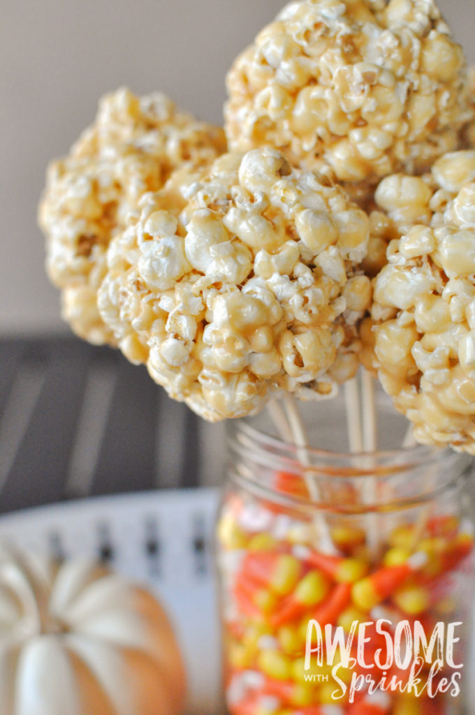 Classic Salted Caramel Corn Balls | Awesome with Sprinkles