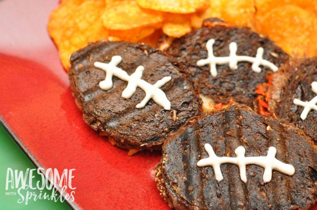 Mini Football Pizza Panini Sandwiches | Awesome with Sprinkles