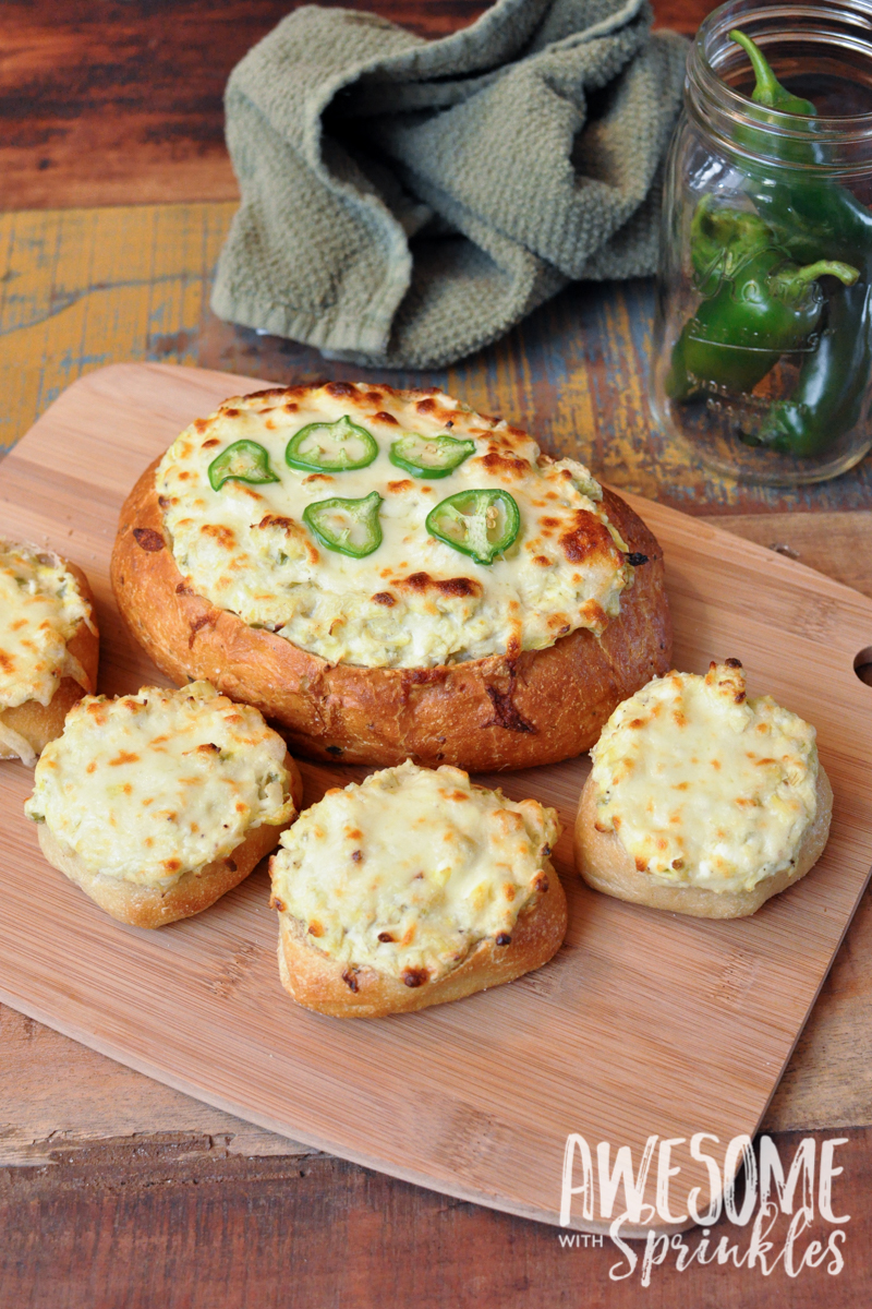 Spicy Jalapeño Artichoke Dip | Awesome with Sprinkles