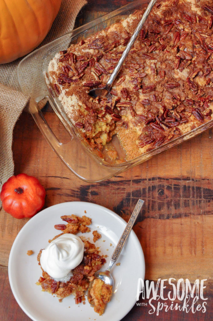 Easy-Peasy Pumpkin Pecan Cobbler | Awesome with Sprinkles