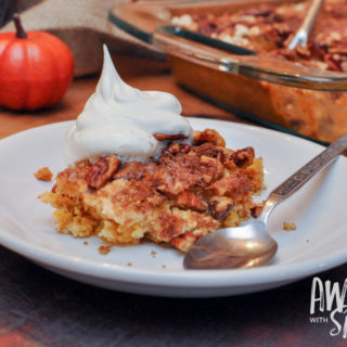 Easy-Peasy Pumpkin Pecan Cobbler