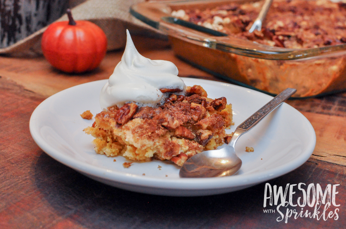 Easy-Peasy Pumpkin Pecan Cobbler - Awesome with Sprinkles