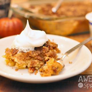 Easy Peasy Pumpkin Pecan Cobbler - AwesomewithSprinkles.com