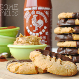 Chocolate Chili Dipped Sriracha Peanut Butter Cookies & the Food Blogger Cookie Swap 2014
