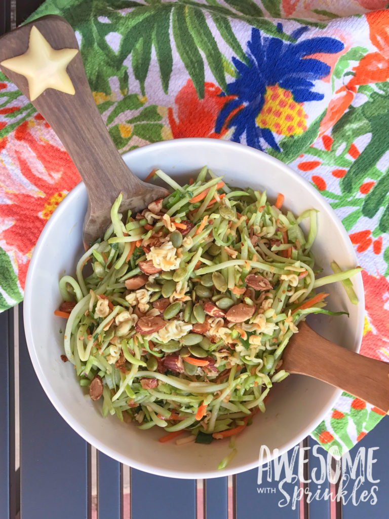 Broccoli Slaw with Crunchy Ramen | Awesome with Sprinkles