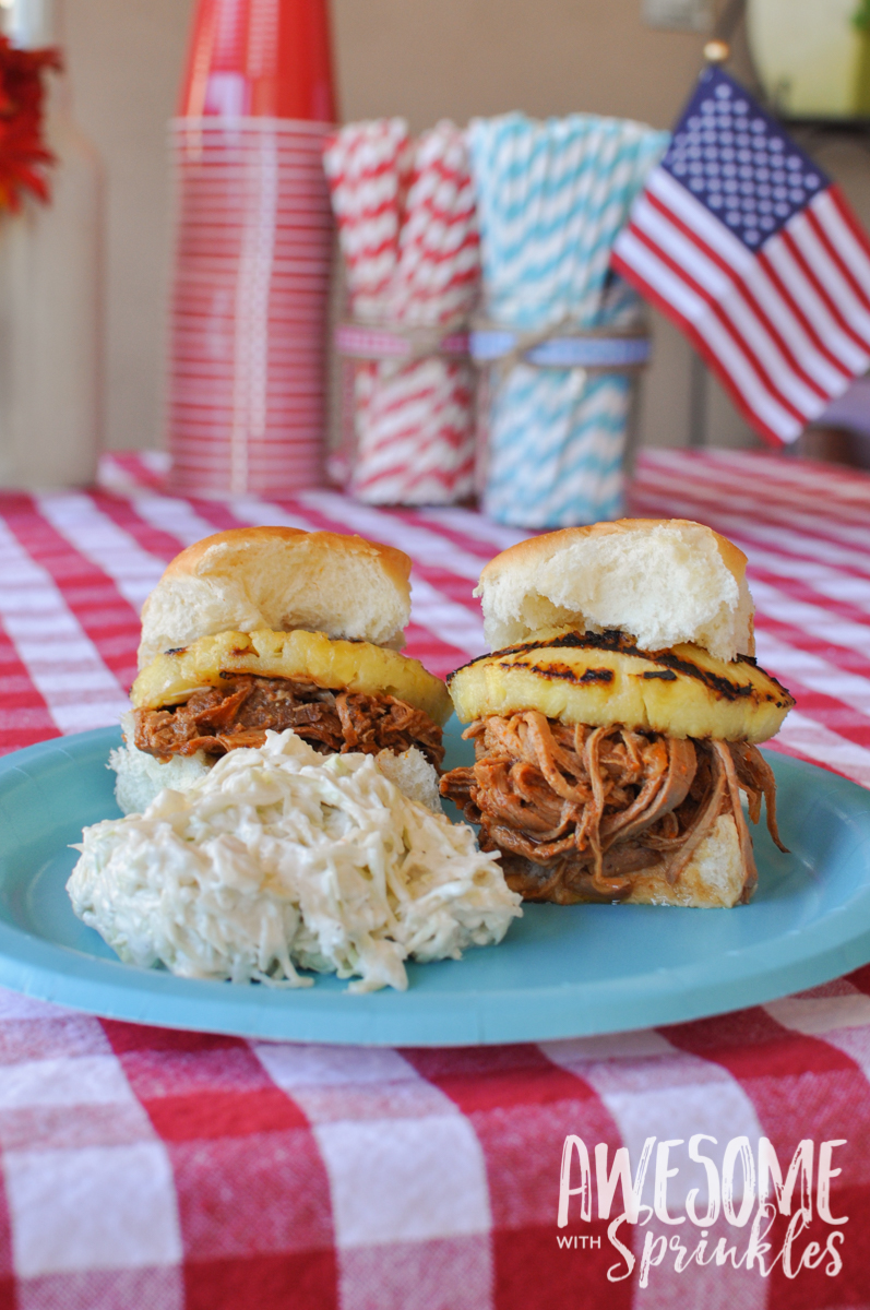 Spicy and Tangy Pulled Pork Sliders made with Sriracha!! Fire it up! | Awesome with Sprinkles