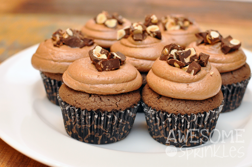 I Love Nutella Cupcakes | #awesomewithsprinkles