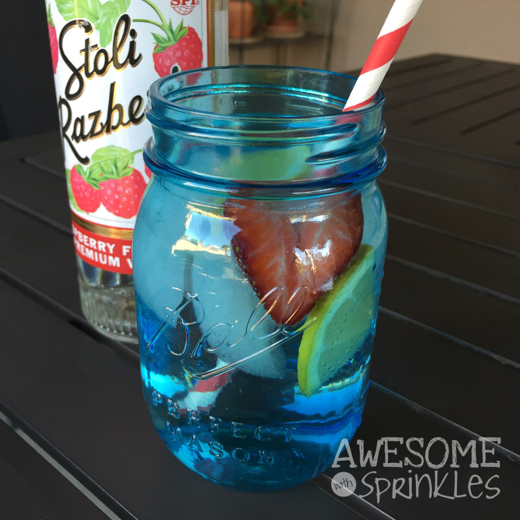 Sunny Afternoon Lemon Berry Vodka Spritzer | Awesome with Sprinkles