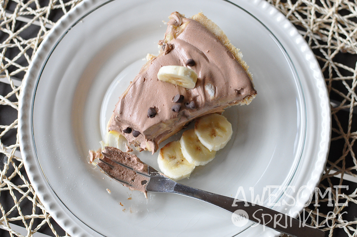 Nutella Banana Cream Pie | Awesome with Sprinkles