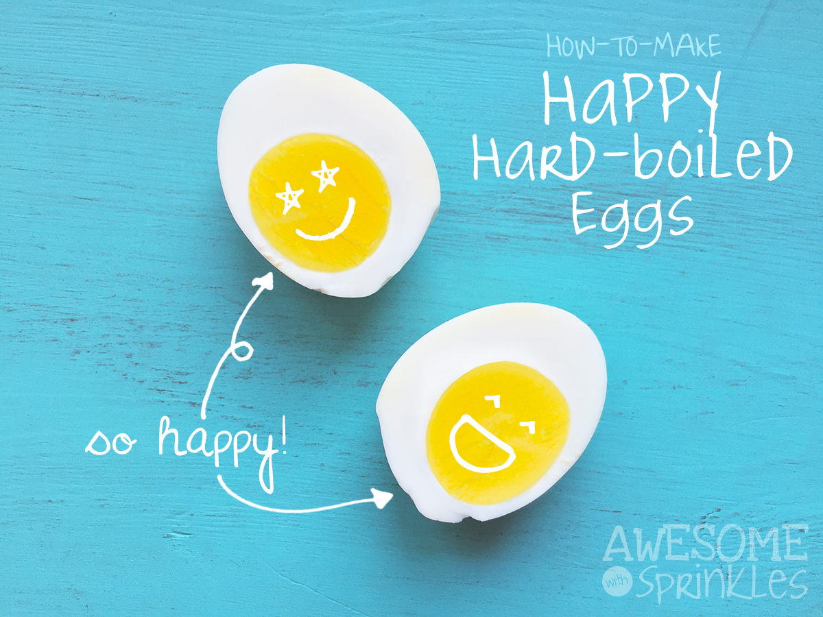 How-to-Make Happy Hard-Boiled Eggs | Awesome with Sprinkles