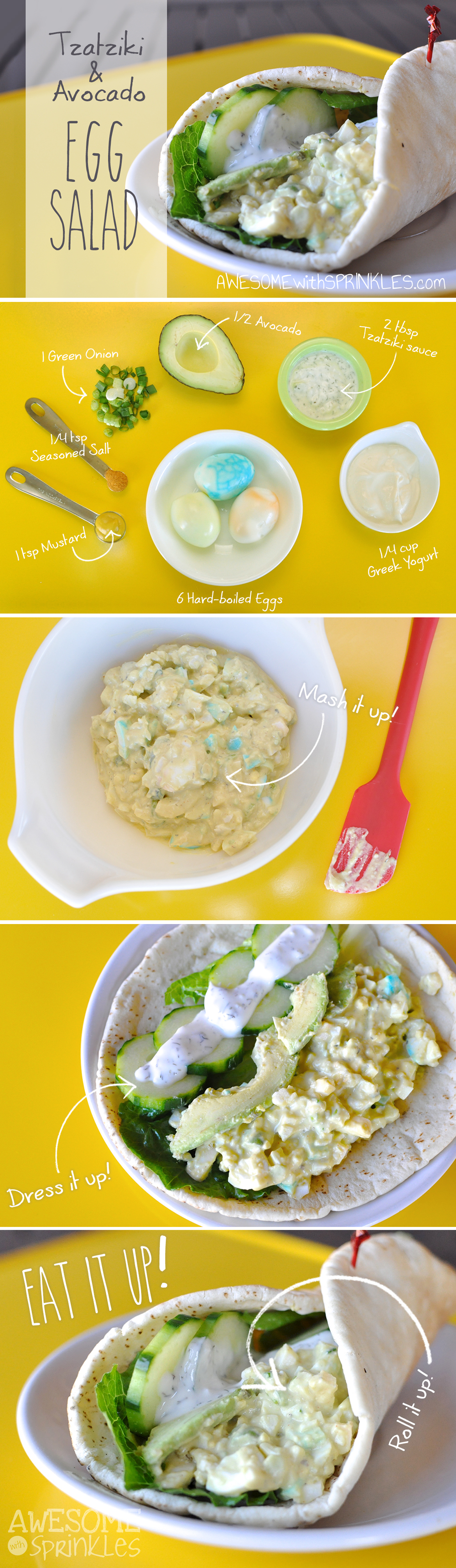 Tzatziki and Avocado Egg Salad | Awesome with Sprinkles